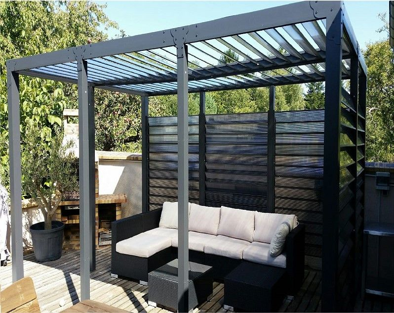 pergola auchan achat pergola toit et ventelles fixes. Black Bedroom Furniture Sets. Home Design Ideas