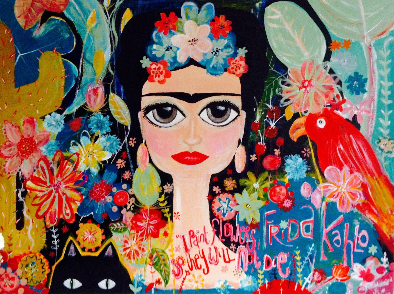 Dibujos Para Colorear De Frida Kahlo: Pinturas Para Colorear De Frida Kahlo