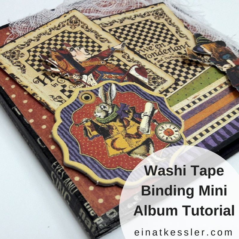 Washi Tape Binding Mini Album Tutorial