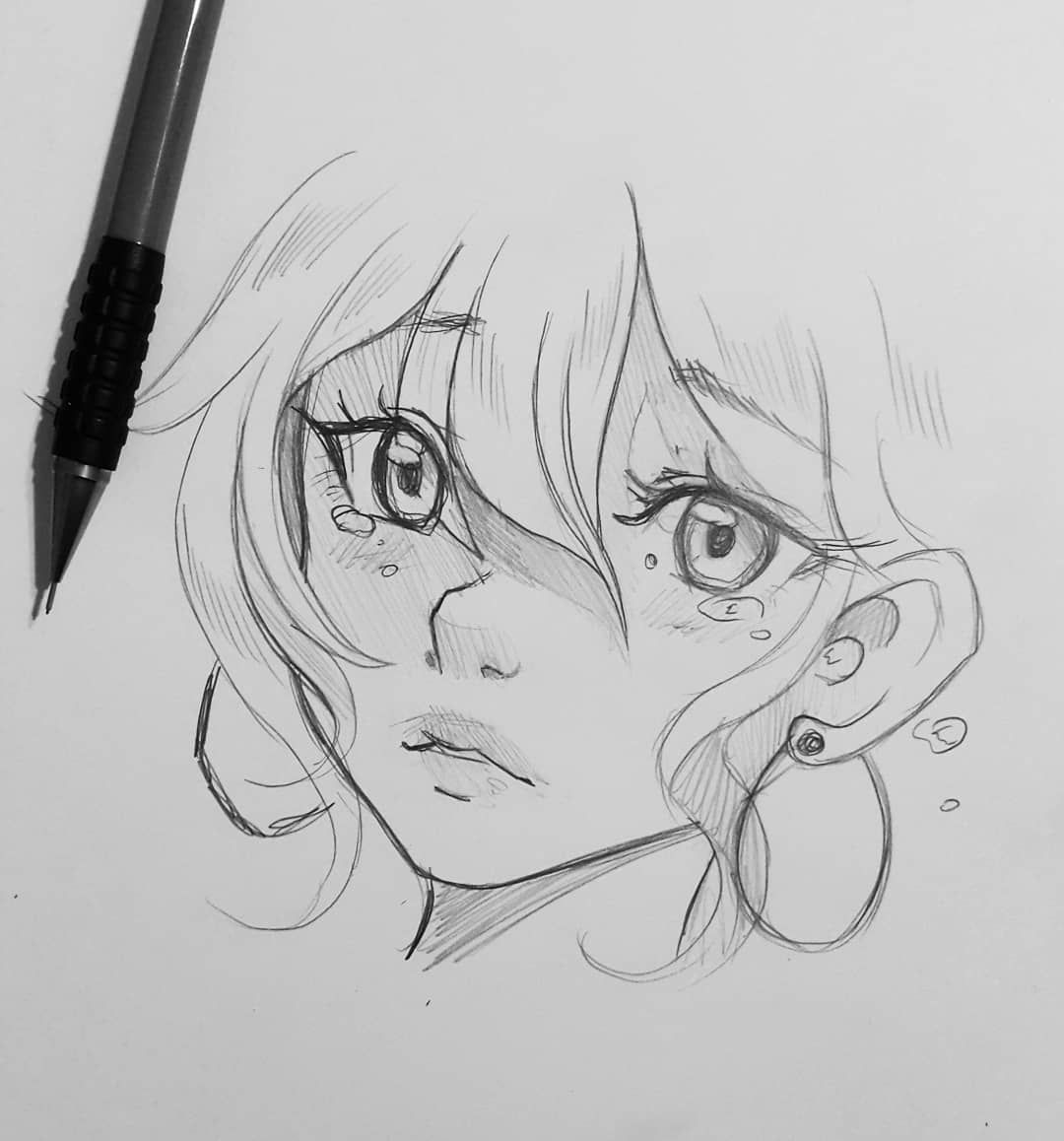 """Photo of ?Lärienne? Karolina Heikura? on Instagram: """"#wip Wind. Where are you from? Is it windy there at times? — Larienne.deviantart.com — #larienne #manga #anime #sketch #doodle #drawing…"""""""