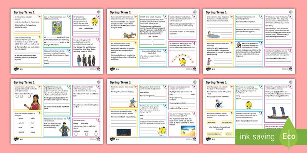 * NEW * Year 6 Spring Term 1 SPaG Activity Mats