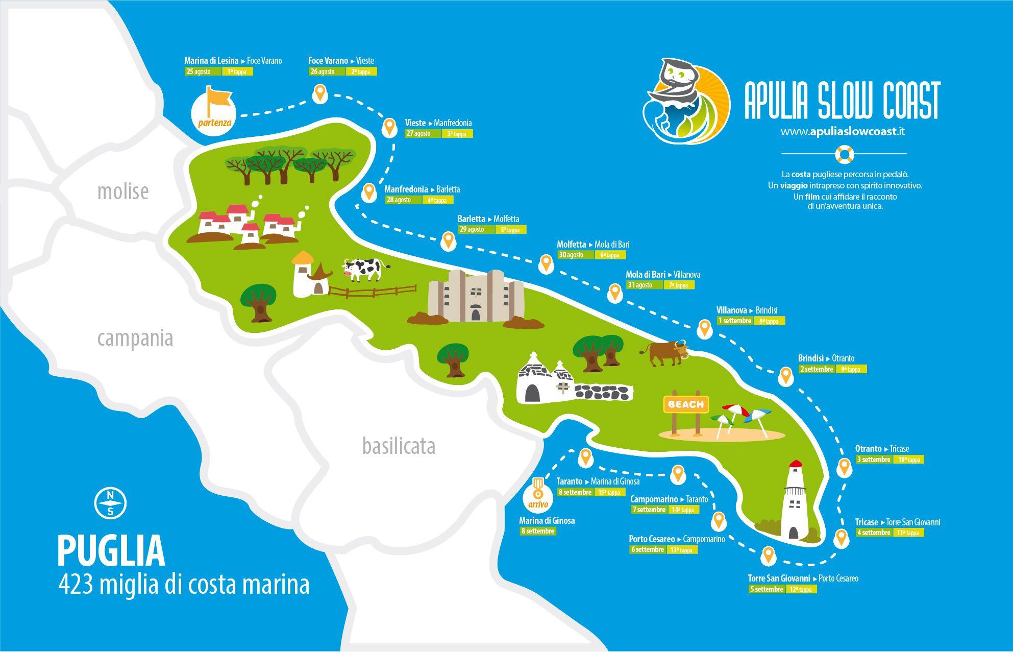 Cartina Itinerari Puglia.Pin Su Luoghi