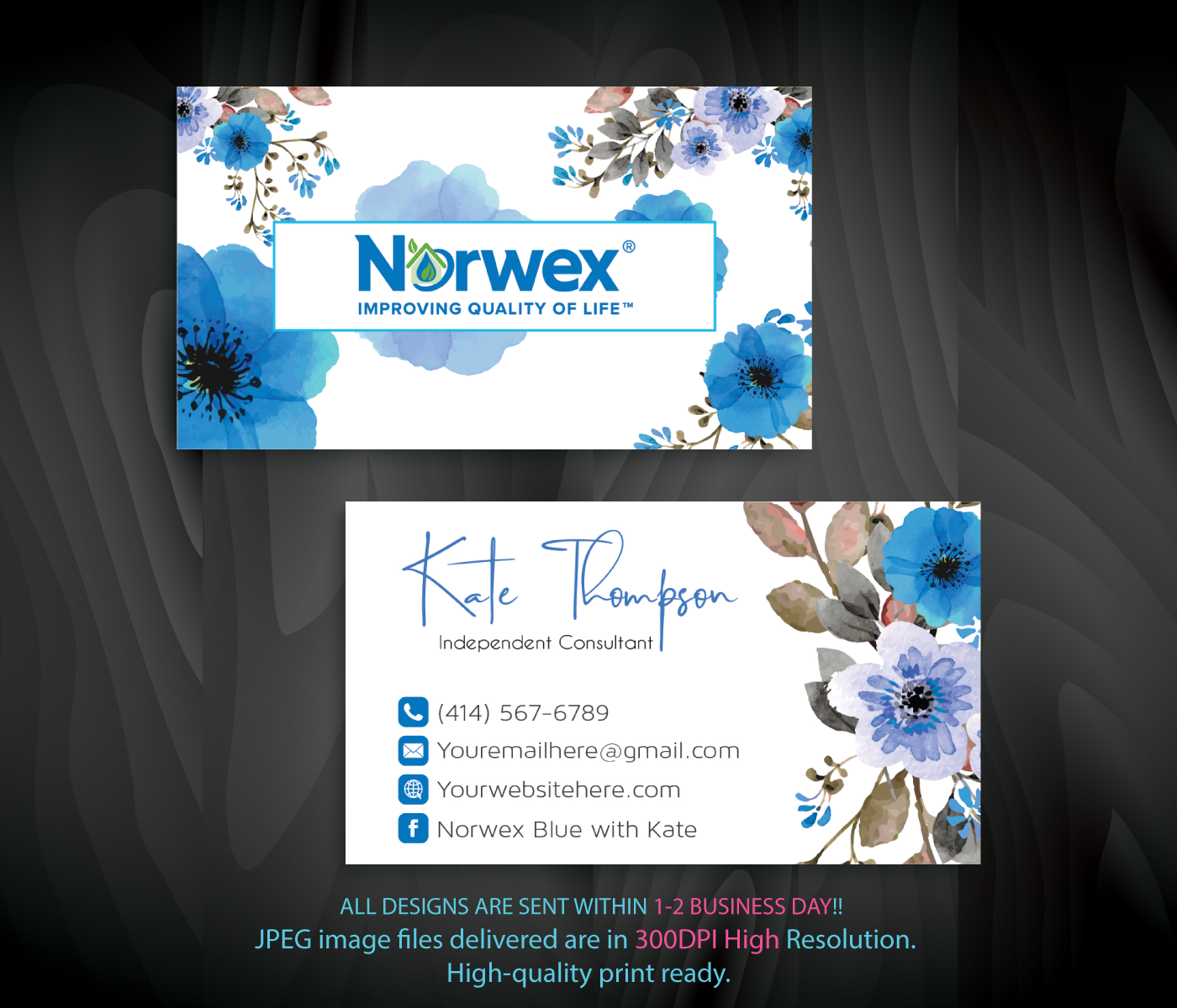 Norwex Business Cards Personalized Norwex Template Nr15 Beautycounter Business Cleaning Business Cards Personal Business Cards