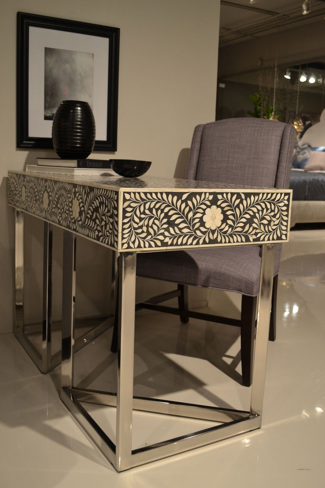 Best Cozy•Stylish•Chic Inspiring Design Decor And Fashion Bernhardt Furniture Inlaid Bone Desk 640 x 480