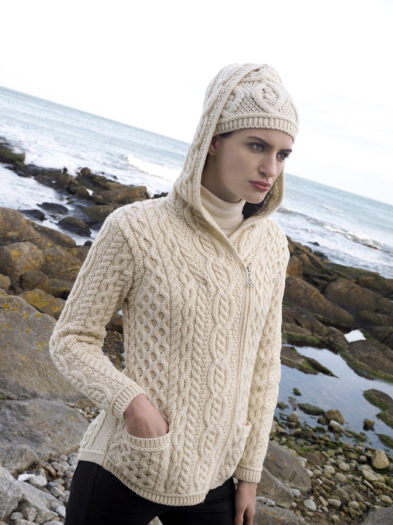 Ladies Side Dipper Cardigan by Natallia Kulikouskaya for Aran Crafts ...