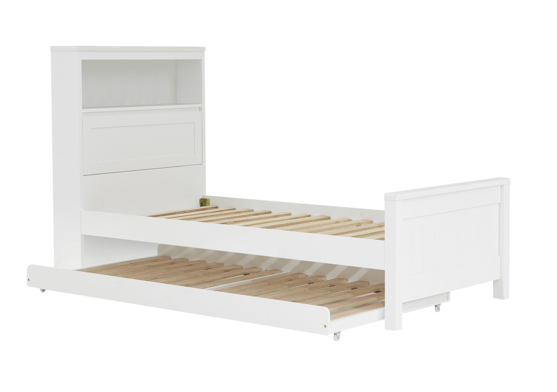 Kidu0027s Single Trundle Bed With A Solid Hardwood Frame. Child Friendly, Non  Toxic