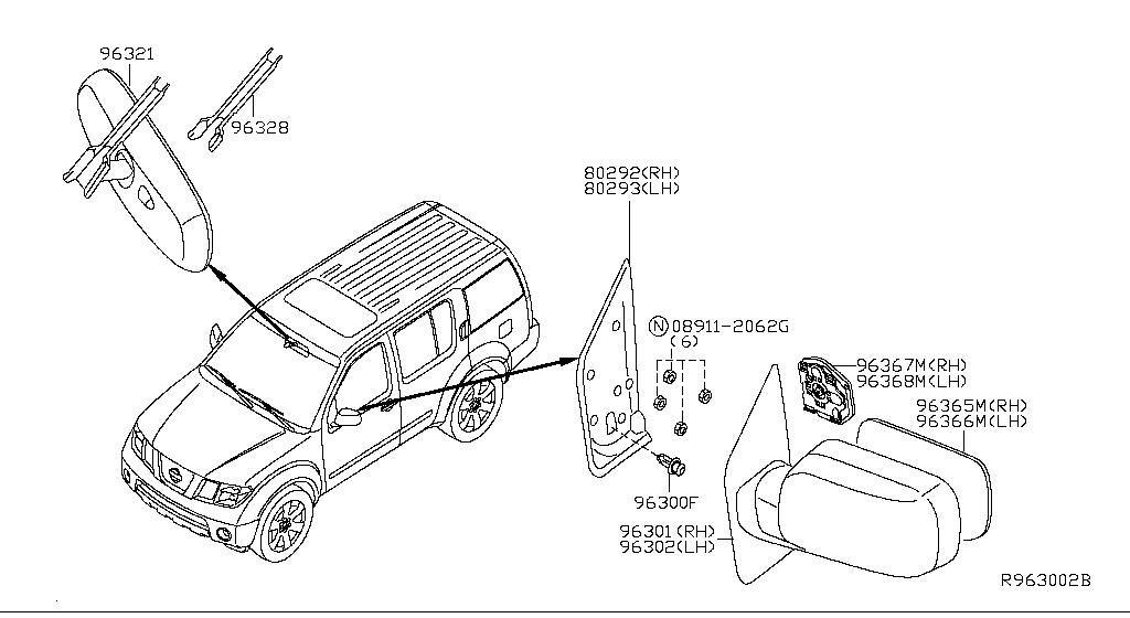 1997 nissan pathfinder hatch sensor parts diagram  nissan