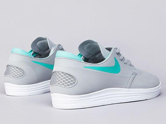 36b038d2e243 Nike SB Lunar One Shot - Base Grey - Crystal Mint - SneakerNews.com ...