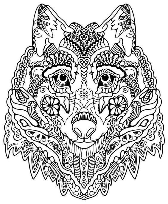 Ausmalbilder Erwachsene Wolf 699 Malvorlage Erwachsene ...