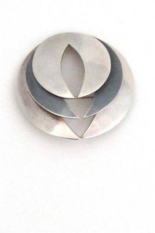 Maricela Mexico silver modernist brooch