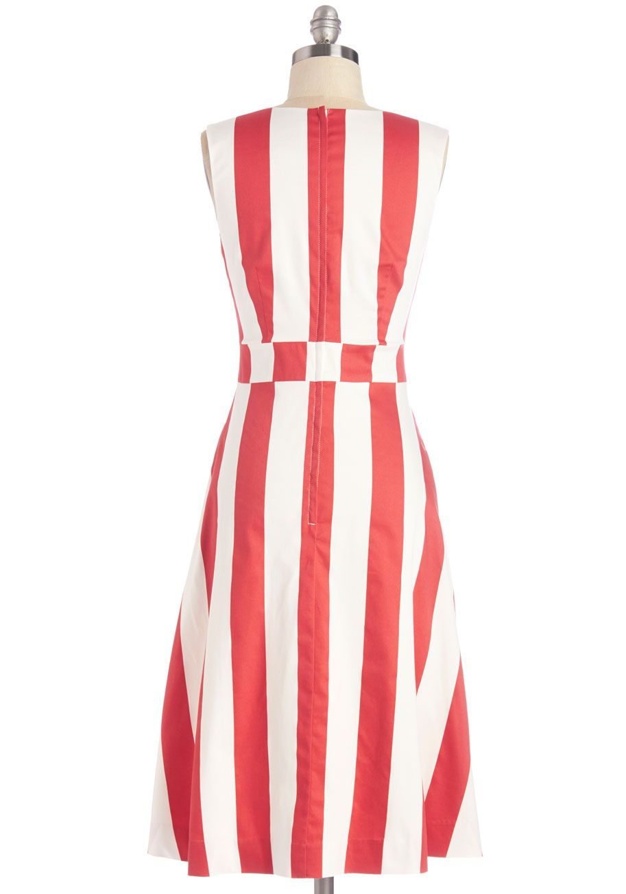 ea27c6fb25b Red   white vertical striped sleeveless dress with scoop neckline
