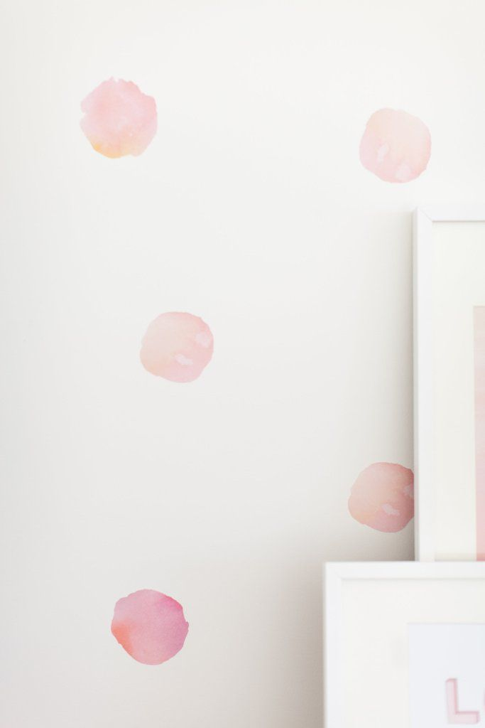 Watercolor Polka Dots Wall Decals Nursery Wall Decals Polka Dot