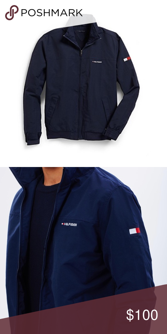 593b58fc Tommy Hilfiger yacht jacket Brand new Navy blue Tommy jacket for men or  women . Feel free to make offers Tommy Hilfiger Jackets & Coats Bomber &  Varsity