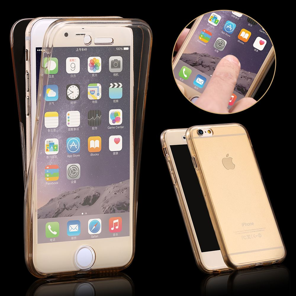 360 Degree Case For Iphone 7 7plus Front Back Combo Protective Soft Baseus Air Series Macbook Pro 13 Inch 2016 Transparent Clear Hard Tpu Smart Touch Apple Coque