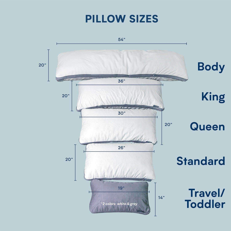 pillow protector pillow sizes chart