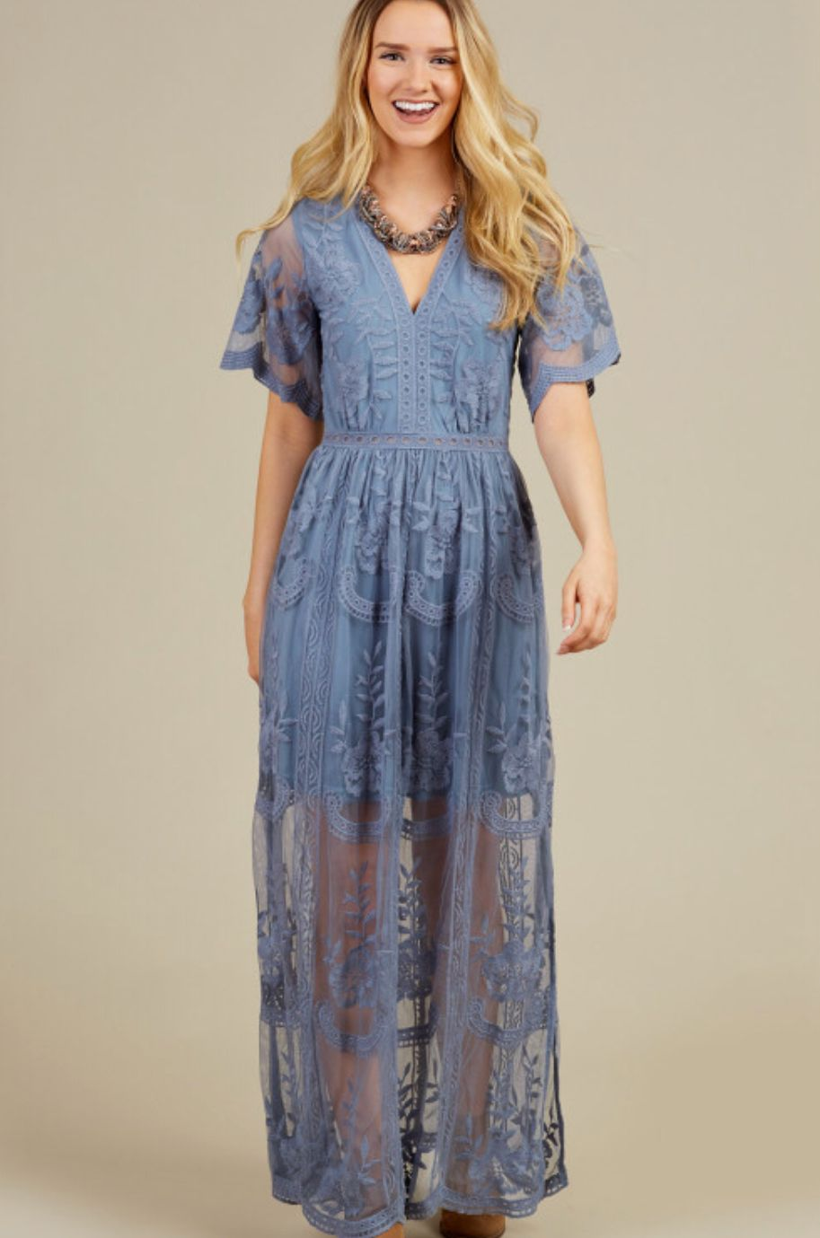 e0b45496af2 alter D state blue maxi dress
