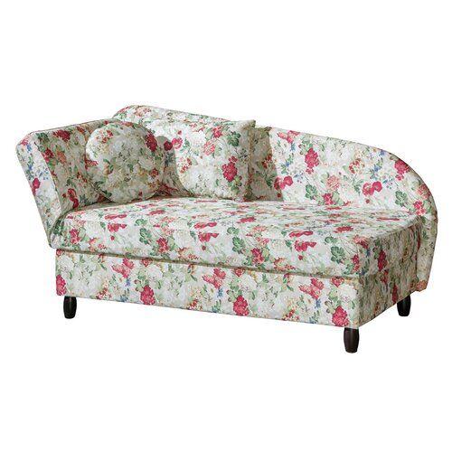 Recamiere Whitehill Marlow Home Co Orientierung Links Polsterung Weiss Mit Blumenmuster Home Couch Home Decor