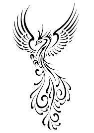 Resultado De Imagen Para Ave Fenix Dibujo Blanco Y Negro Tattoo