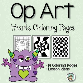 Op Art Hearts Coloring Pages | Heart coloring pages, Op ...