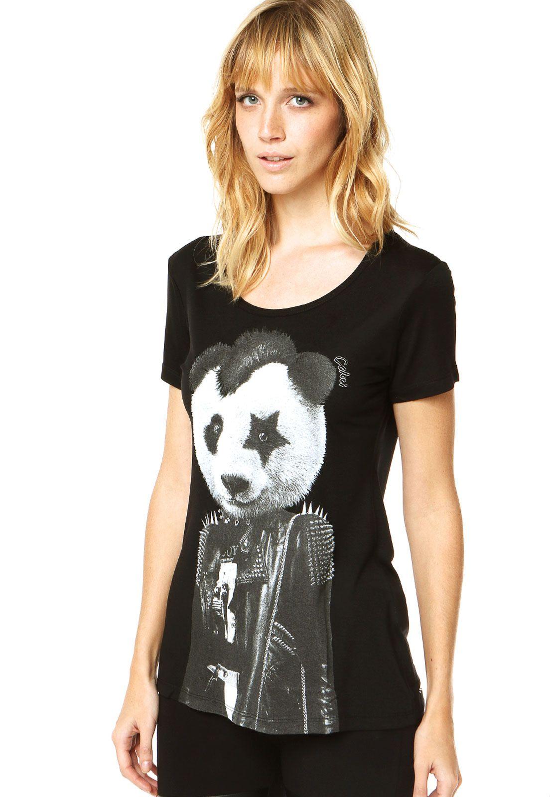 6a3713d3b Camiseta Colcci Preta | wanted | Colcci, Preto e Calça jeans