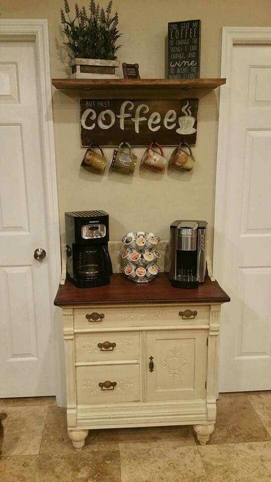 Coffee Stations Ideen für einen guten Start in den Tag. tag: diy kaffeestation ... - #Coffee #den #DIY #einen #für #guten #Ideen #Kaffeestation #Start #Stations #Tag #coffeebarideas