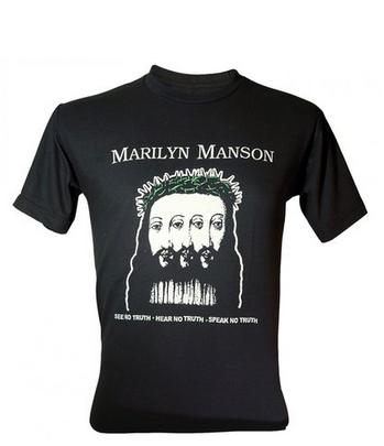 Marilyn Manson Photo Girls Junior T-Shirt NEW Licensed /& Official