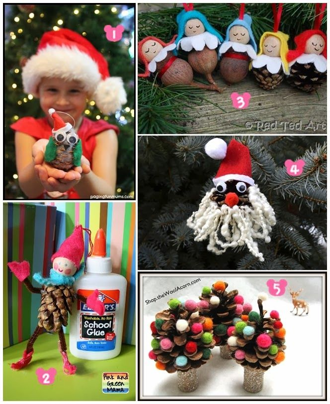 Diy Projects Pinecone Christmas Crafts for Kids Best Christmas