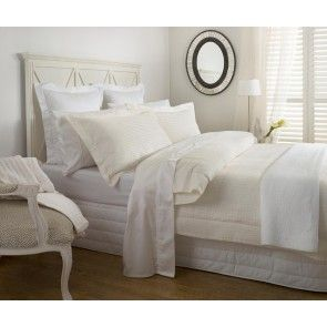 Baksana Waffle Piquet Cream Duvet Cover Set Duvet Cover Sets