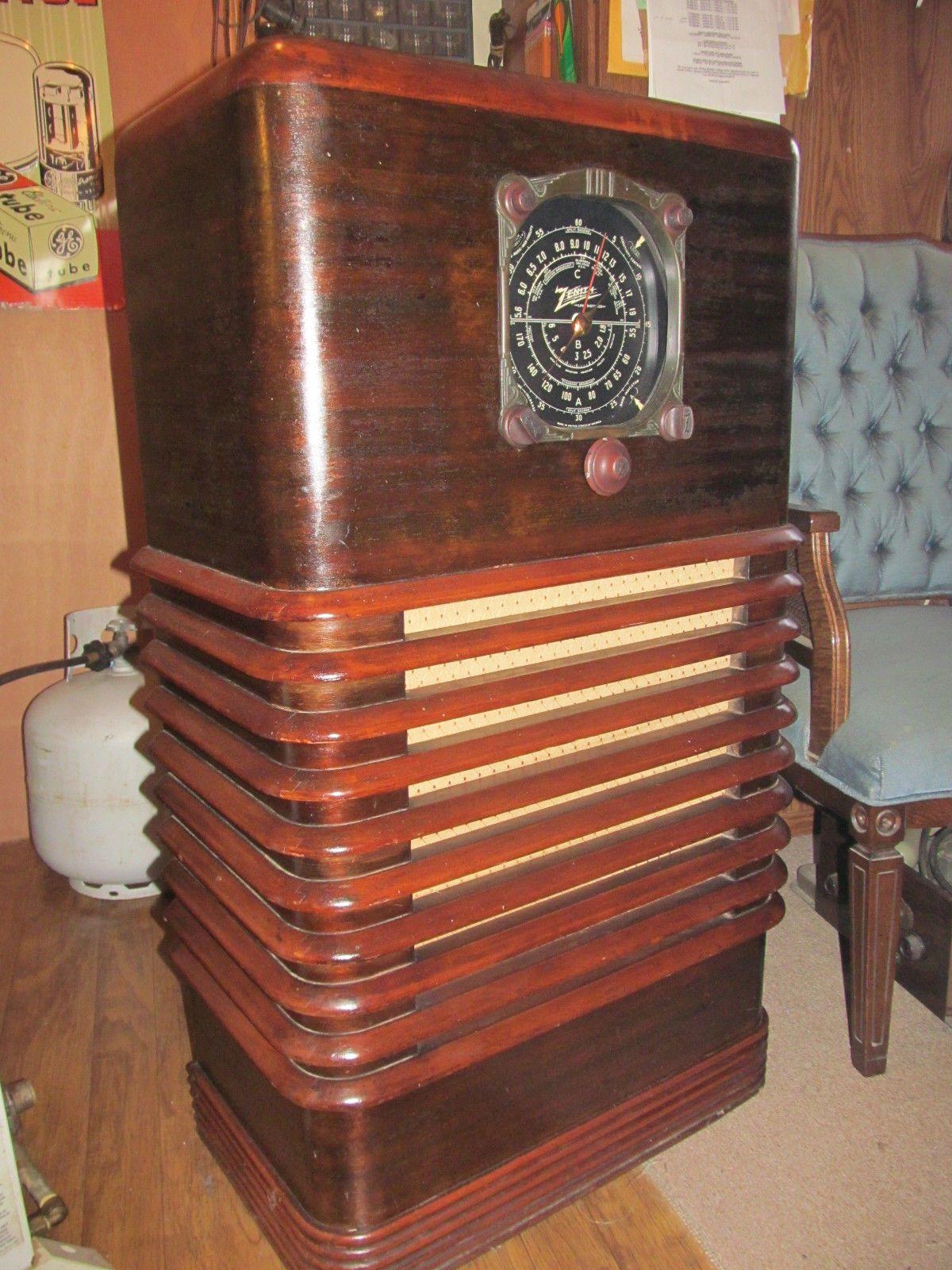 Zenith Zephyr 6s157 1936 6 Tube Console Radio Restored Antique Radio Vintage Radio Retro Radios