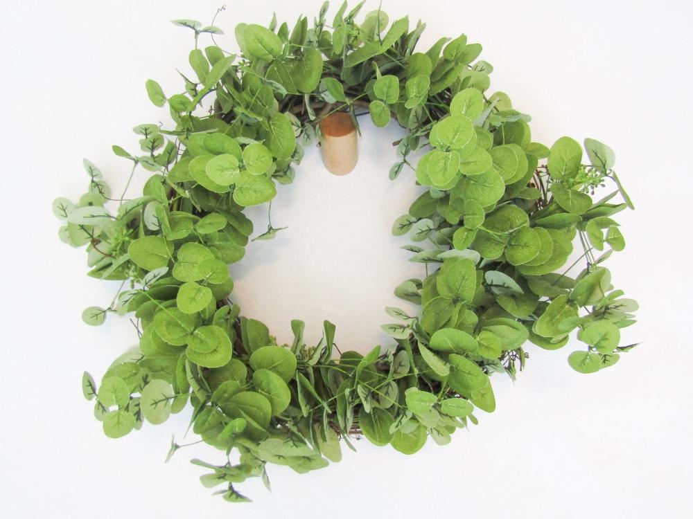Photo of Eucalyptus wreath, modern wreath, minimalist wreath, peasant wreath
