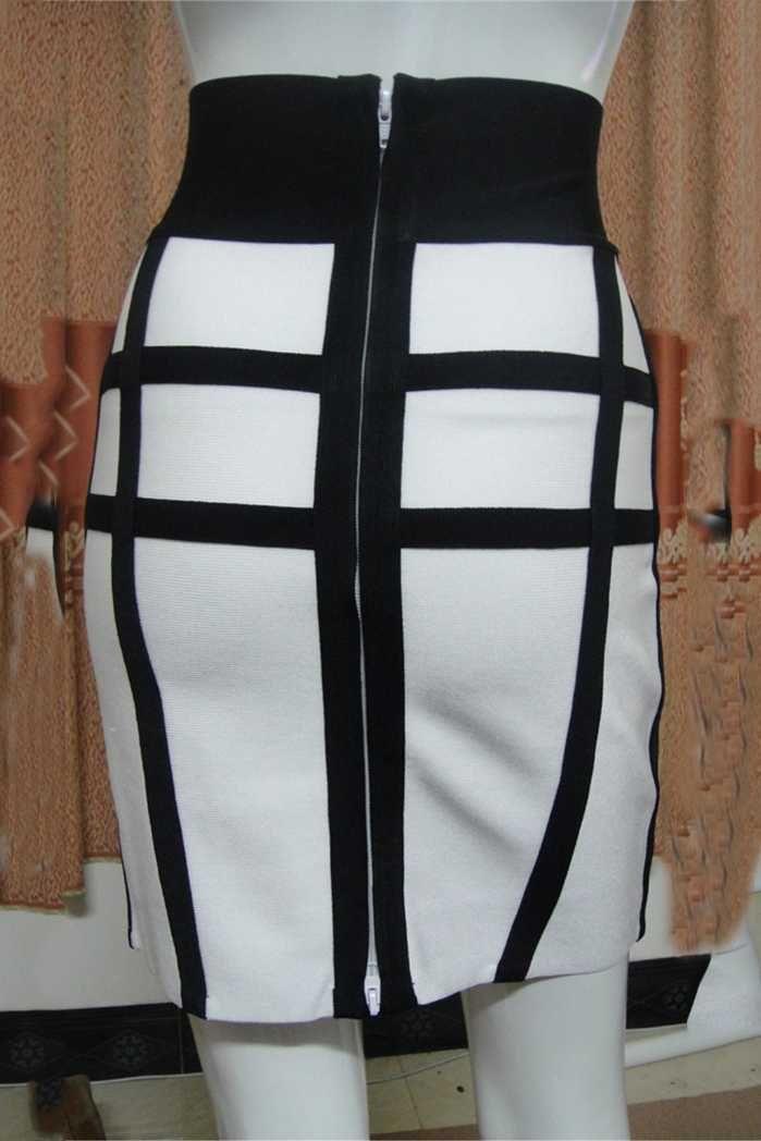 Herve Leger Corozo Aimee Black Mini Skirt