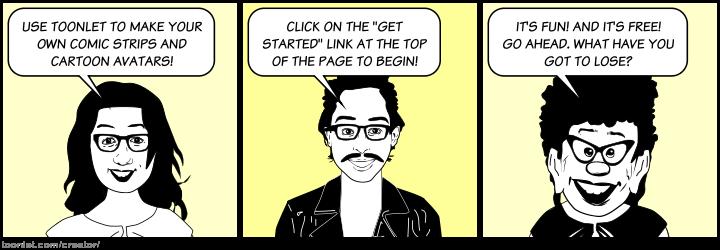 welcome to toonletcom online cartoon strip creator