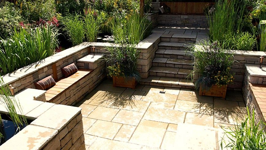 Small Backyard Italian Designed Patio Garden Designer Specialist In Water Gardens And Construction Of