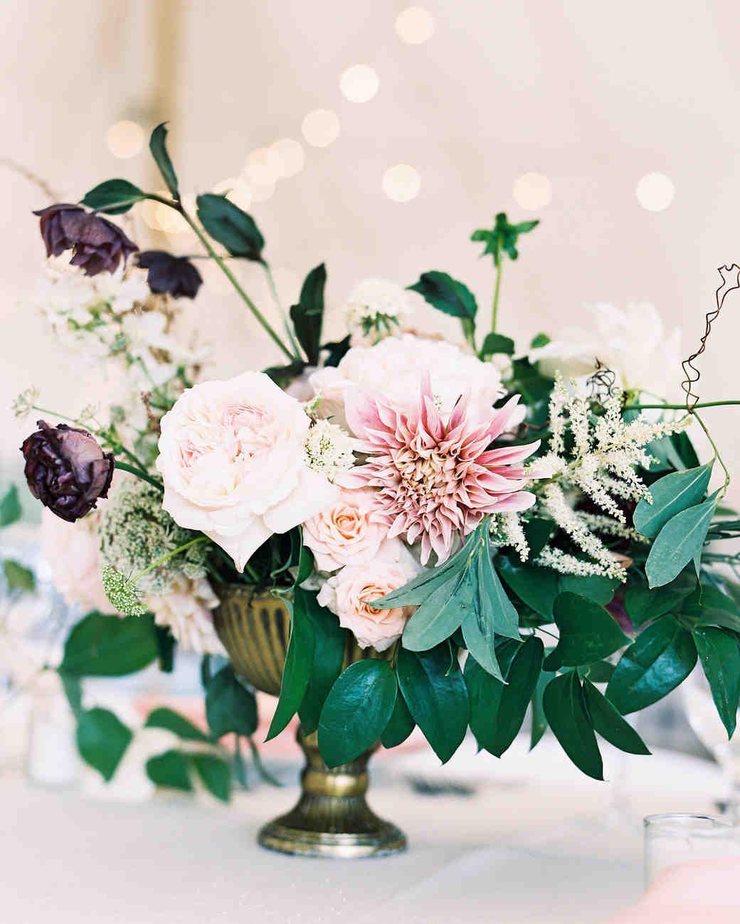 Pink and maroon wedding decor   Pink Wedding Centerpieces We Love  Weddings  Centerpieces