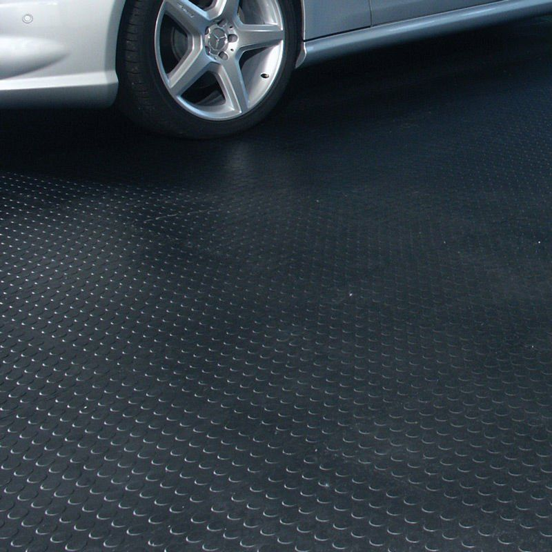 Rubber Garage Flooring As Your True Protection: Round Dot Rubber Garage  Flooring ~ Bidycandy.