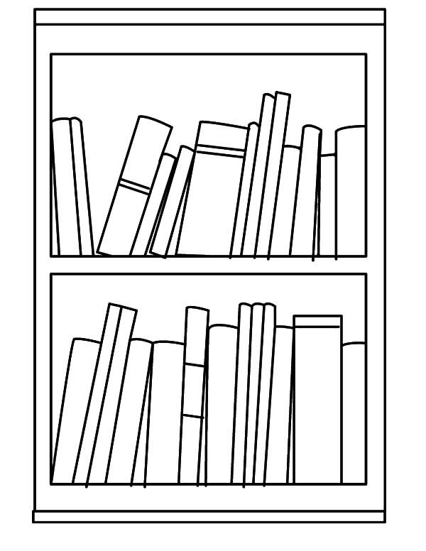 Bookshelf Economic Book Bookshelf Coloring Pages Coloring