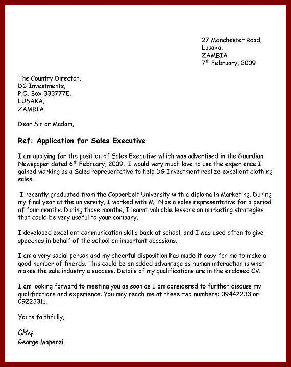 How to write an application letter looking for a job