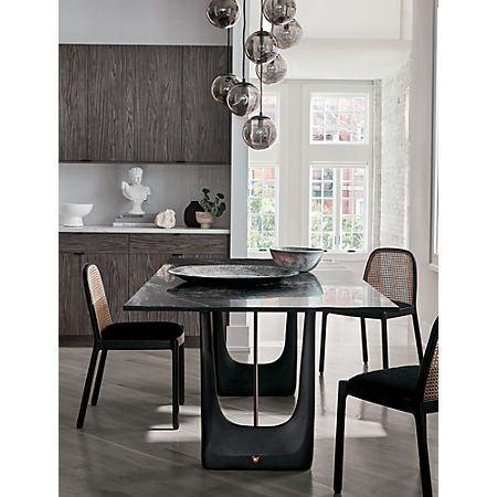 Rocco Rectangular Marble Dining Table Reviews Cb2 Modern Dining Room Dining Table Marble Modern Dining Room Lighting