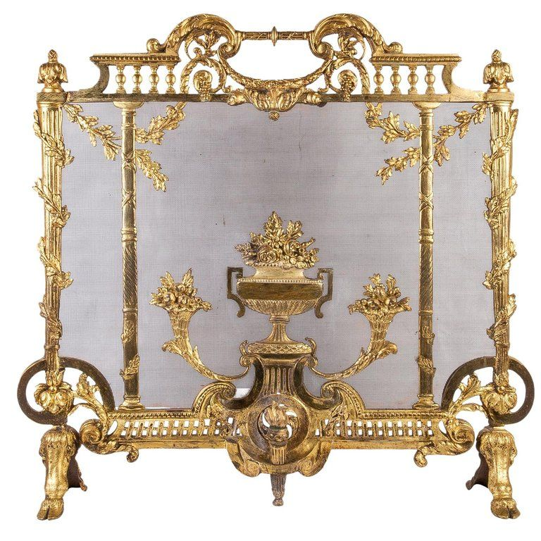 French Late 19th Century Louis Xvi Style Fire Screen For Sale At 1stdibs Louis Xvi Style Victorian Fireplace Screens Victorian Fireplace Tools