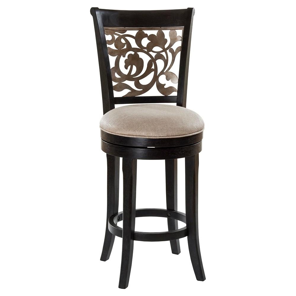 Bennington Swivel 24 Counter Stool Woodblack Hillsdale Furniture