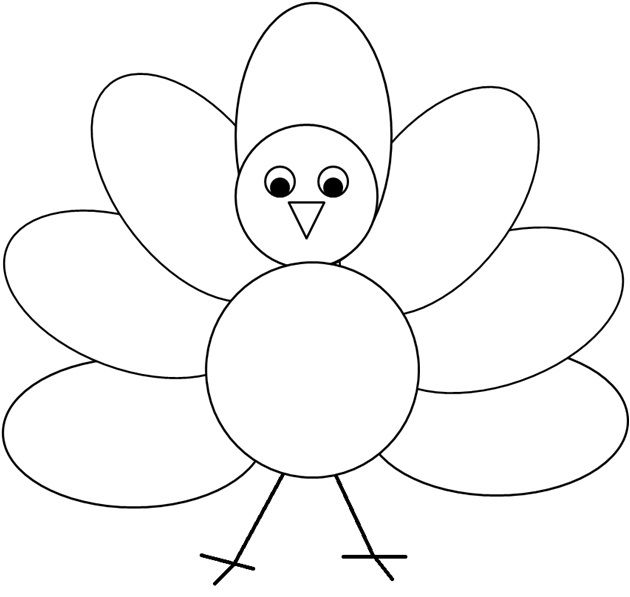 Coloring Or Decorating The Simple Turkey Clipart I Created ...