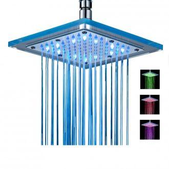 Rociador LED Mat para ducha - multicolor - ABS - 20 x 1,5 cm