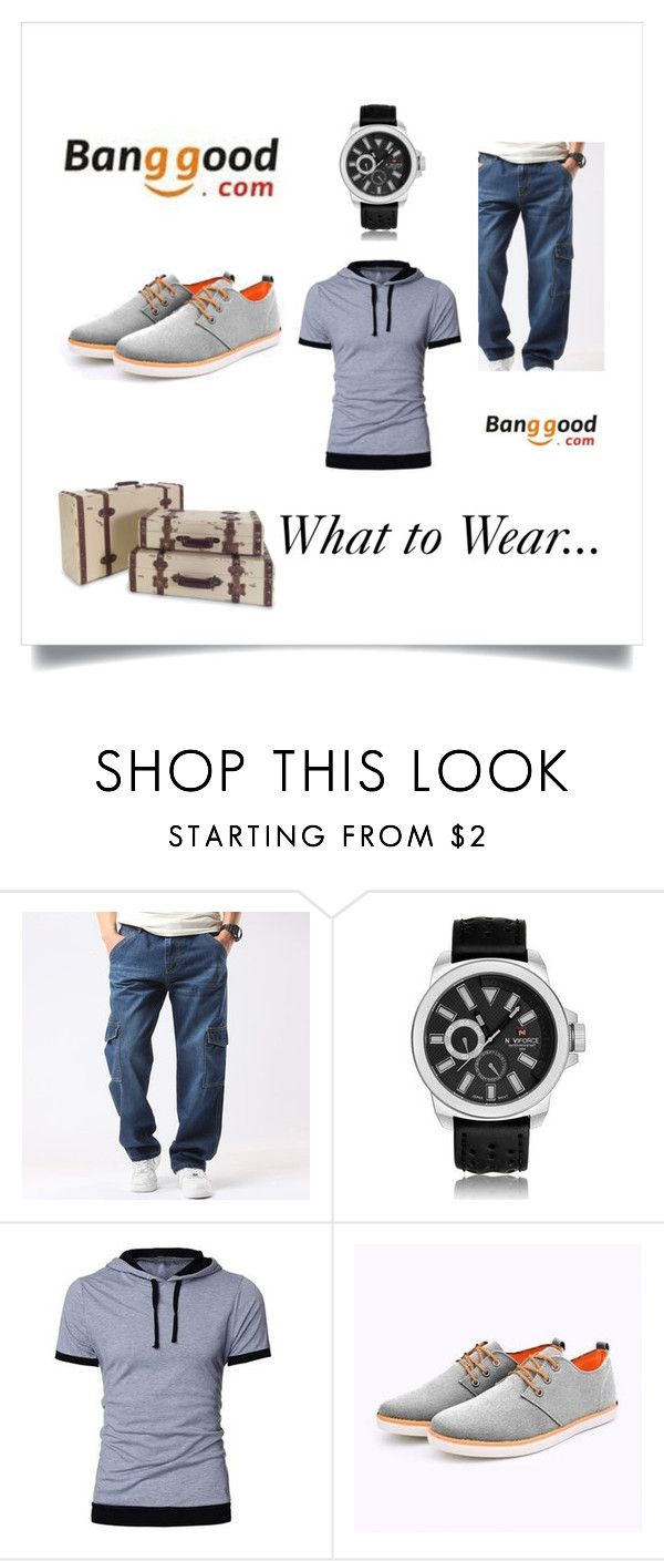 """Banggood 2"" by almin-sturm ❤ liked on Polyvore featuring IMAX Corporation, men's fashion and menswear"