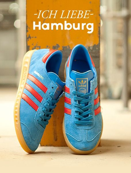 adidas Originals Hamburg: Blue/Red