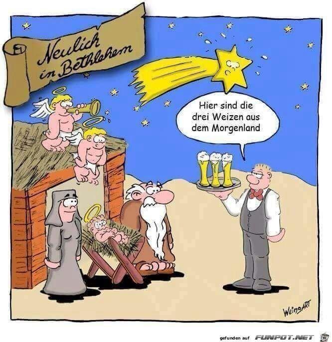 Weihnachten lustig witzig Sprüche Bild Bilder. Die drei Weizen aus dem Morgenland