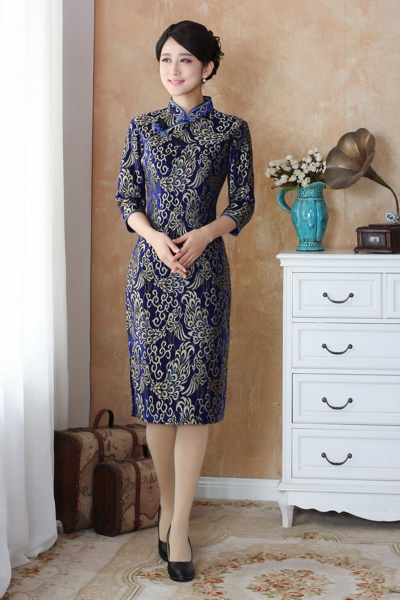Free Shipping Top Quality Half Sleeve Qipao Long Chinese Dress Lace Cheongsam Dress National Chinese Dresse Chinese Long Dress Lace Dress Chinese Dresses Qipao [ 1200 x 800 Pixel ]