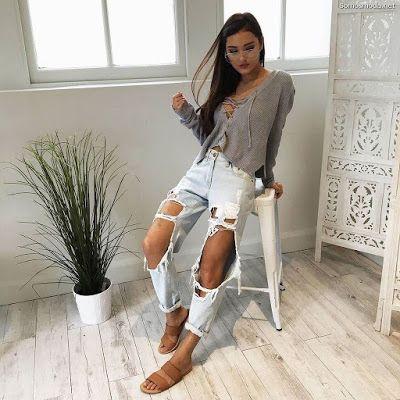 Photo of Pantalones Rotos de Mujer ¡55 Ideas de Moda! | Moda y Tendencias 2019-2020