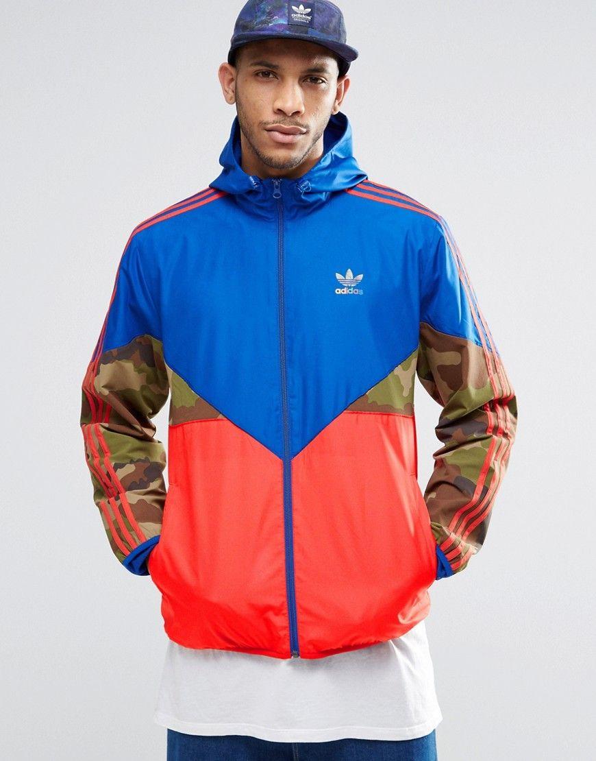 c58c6a6b9b Image 1 of adidas Originals Camo Pack Windbreaker Jacket AY8171 ...