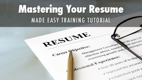 Mastering Your Resume Made Easy Training Tutorial - Land that ...