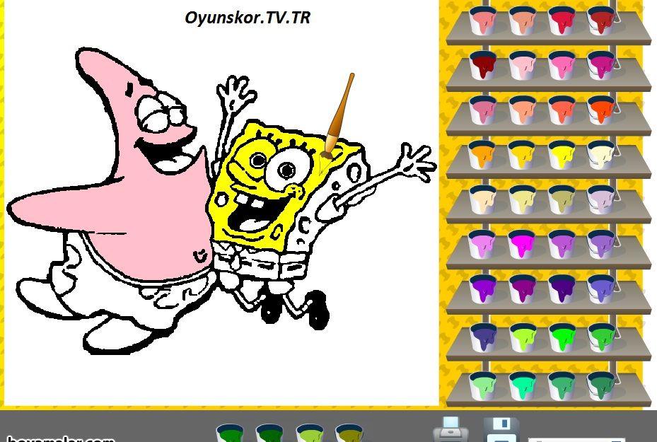 Http Www Oyunskor Tv Tr Boyama Oyunlari Sunger Bob Boyama Html Oyun Oyunlar Bob